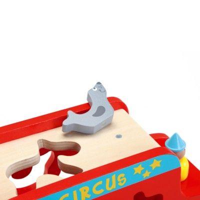 Klosslåda i trä - Cirkusbuss
