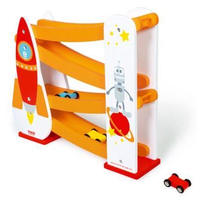 Bilbana i trä - rymdraket - Scratch