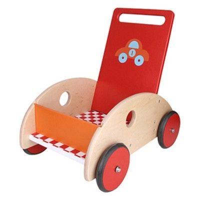 Gåvagn - röd med bil