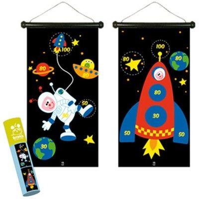 Spel - magnetisk darttavla - astronaut och raket