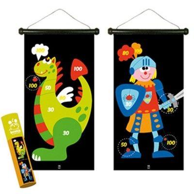 Spel - magnetisk darttavla - drake och riddare
