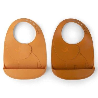 Haklapp i silikon, 2 st - Elphee Mustard - Done by deer
