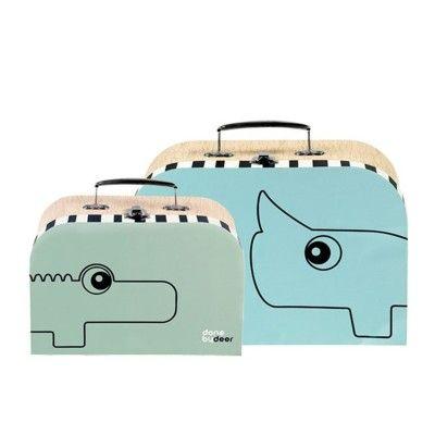 Väska, done by deer - blå/grön - set med 2