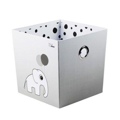 Förvaringsbox - done by deer - dots grå