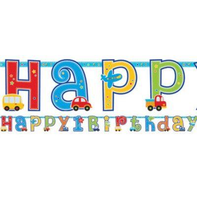 Flaggirlanger - Birthday boy 1 år