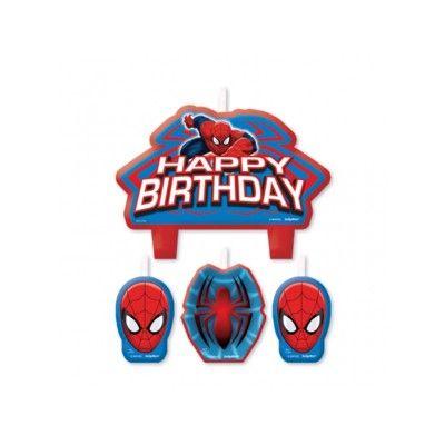 Tårtljus - Spiderman - 4 st