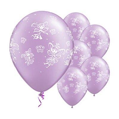 Ballonger - lila med feer - 6 st
