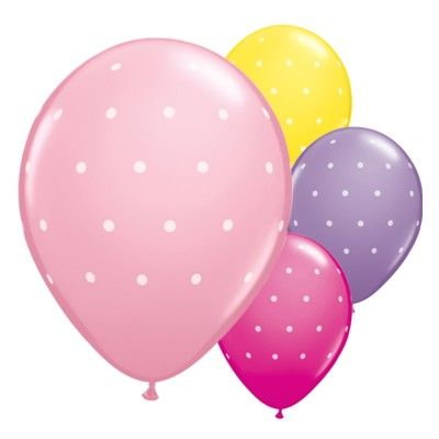 Ballonger - prickar - rosa set - 6 st