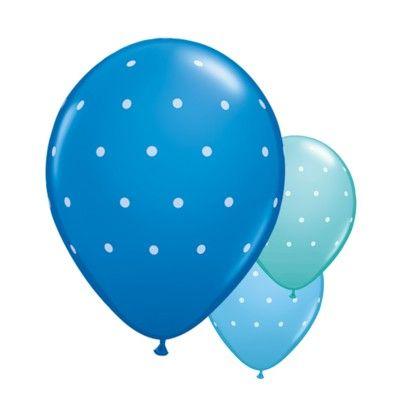 Ballonger - prickar - blå set - 6 st