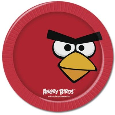 Kalastallrikar - Angry birds - 8 st
