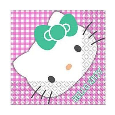 Kalasservetter - Hello Kitty party - 16 st