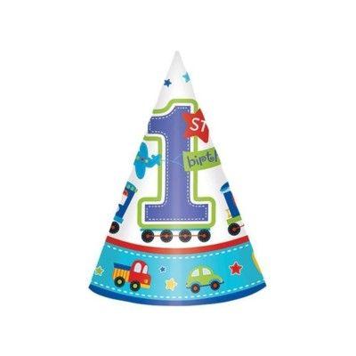 Partyhattar - Birthday Boy 1 år - 8 st