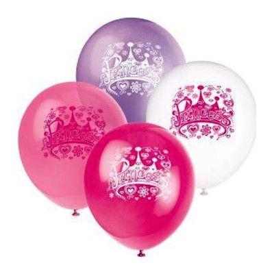 Ballonger - prinsesskrona - 8 st