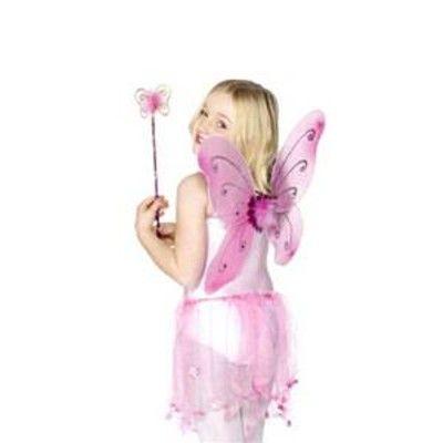 Vingar och spö till maskeraden - rosa
