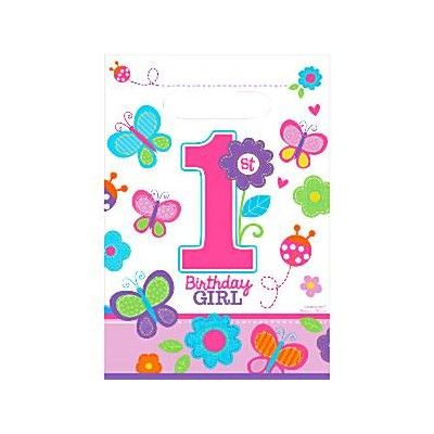 Godispåsar - Birthday Girl 1 år - 8 st