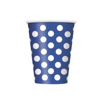Kalasmuggar - blå med vita prickar - 6 st