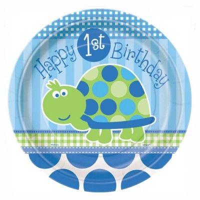Kalastallrikar - 1 år - blå sköldpadda - 8 st