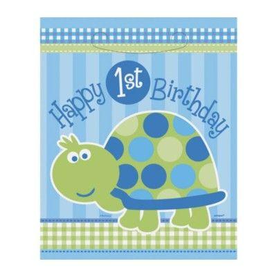 Godispåsar - 1 år - blå sköldpadda - 8 st