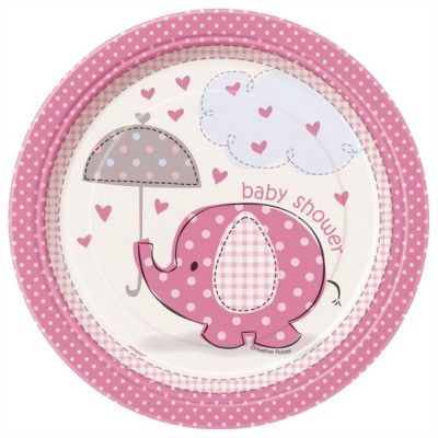 Kalastallrikar - elefant - ljusrosa - 8 st