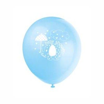 Ballonger - elefant - ljusblå - 8 st