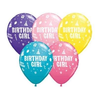 Ballonger - Birthday Girl - 6 st