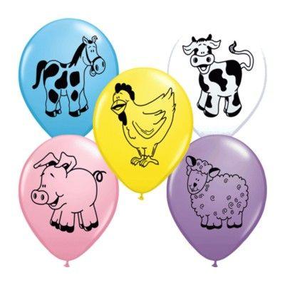 Ballonger - bondgårdsdjur  - 6 st