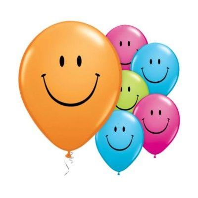 Ballonger - smile - flera färger - 6 st