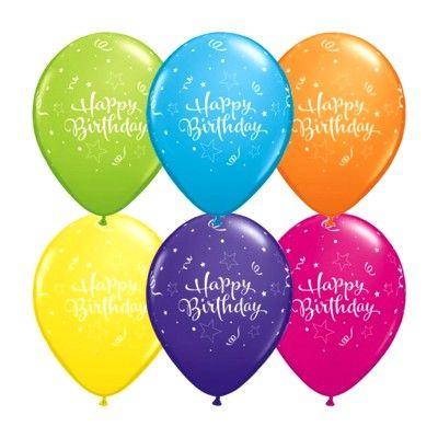 Ballonger - happy birthday - 6 st