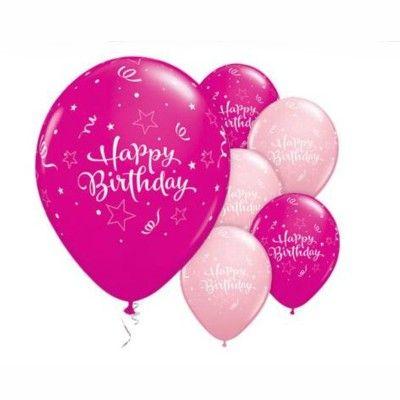 Ballonger - happy birthday star - rosa