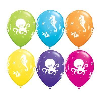 Ballonger - söta havsdjur - 6 st