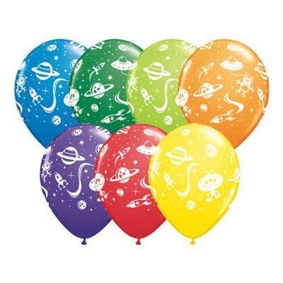Ballonger - rymdskepp & aliens - 6 st