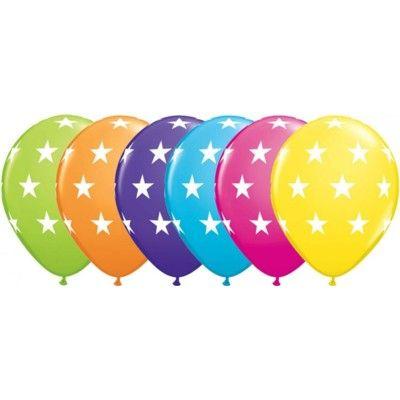 Ballonger - stora stjärnor - 6 st