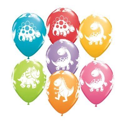 Ballonger - söta dinosaurier - 6 st