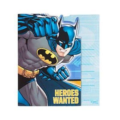 Inbjudningskort - Batman - 8 st