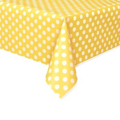 Kalasduk - gul med vita prickar