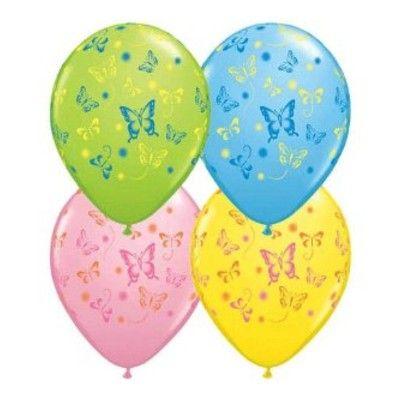 Ballonger - fjärilar - 6 st