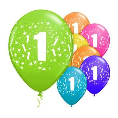 Ballonger - 1 år - 6 st