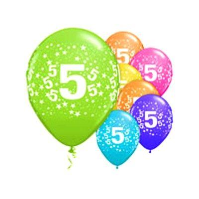 Ballonger - 5 år - 6 st