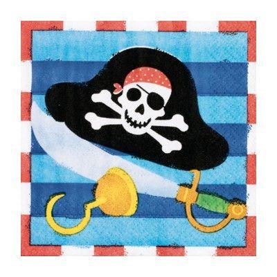 Kalasservetter - piratskatten - 16 st