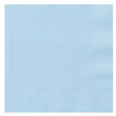 Kalasservetter - ljusblå - 20 st