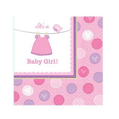 Kalasservetter - It's a baby girl! - 16 st