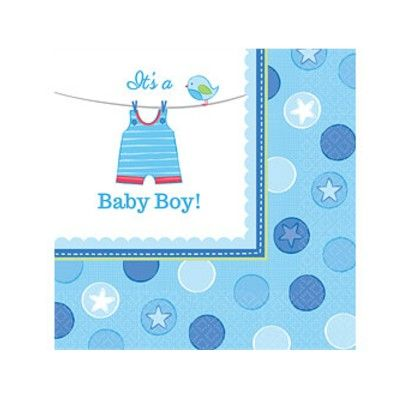 Kalasservetter - It's a baby boy! - 16 st