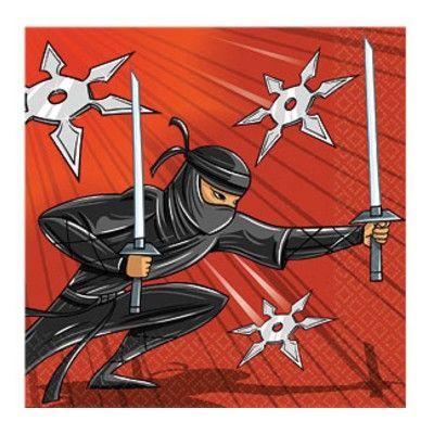 Kalasservetter - ninja - 16 st