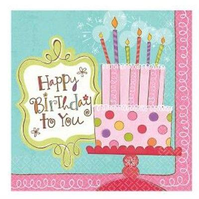 Kalasservetter - happy birthday