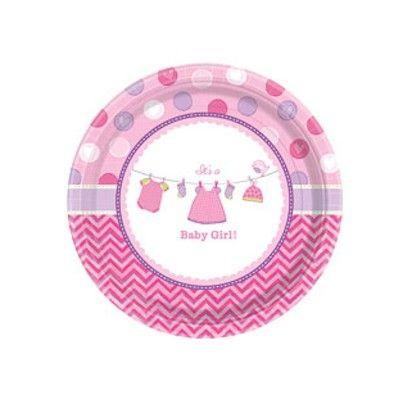 Kalastallrikar - It's a baby girl! - 8 st