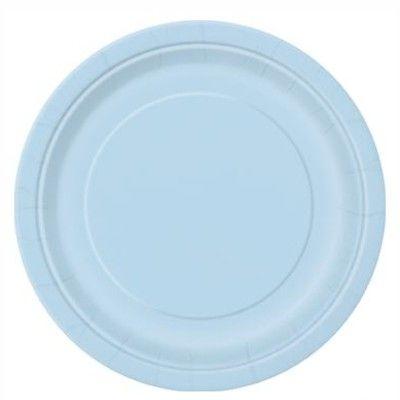 Kalastallrikar - ljusblå - 8 st