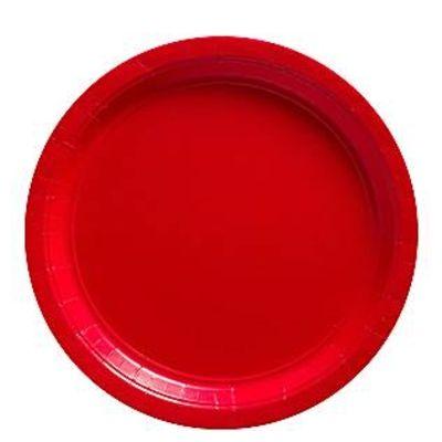 Kalastallrikar - röd - 8 st