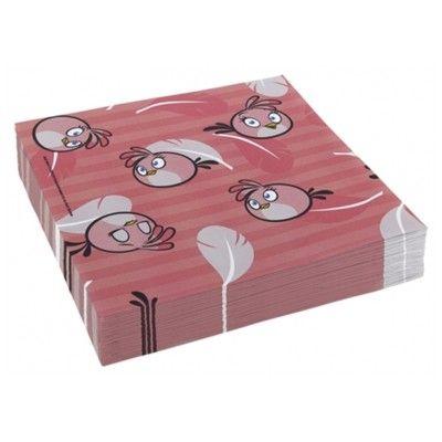Kalasservetter - Angry birds - rosa - 20 st