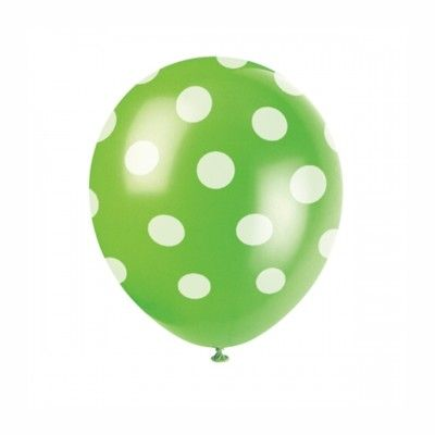 Ballonger - prickar - lime - 6 st