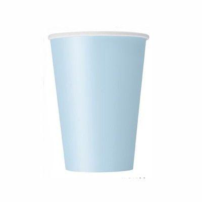 Kalasmuggar - ljusblå - 8 st